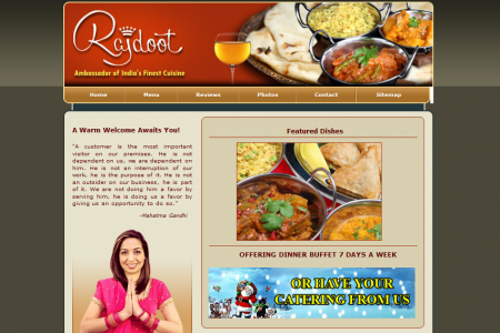 Rajdoot - Indian Restaurant Infographic