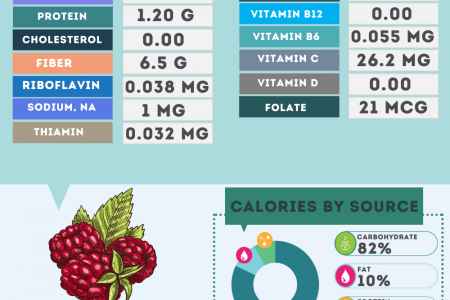 Raspberry nutrition facts Infographic