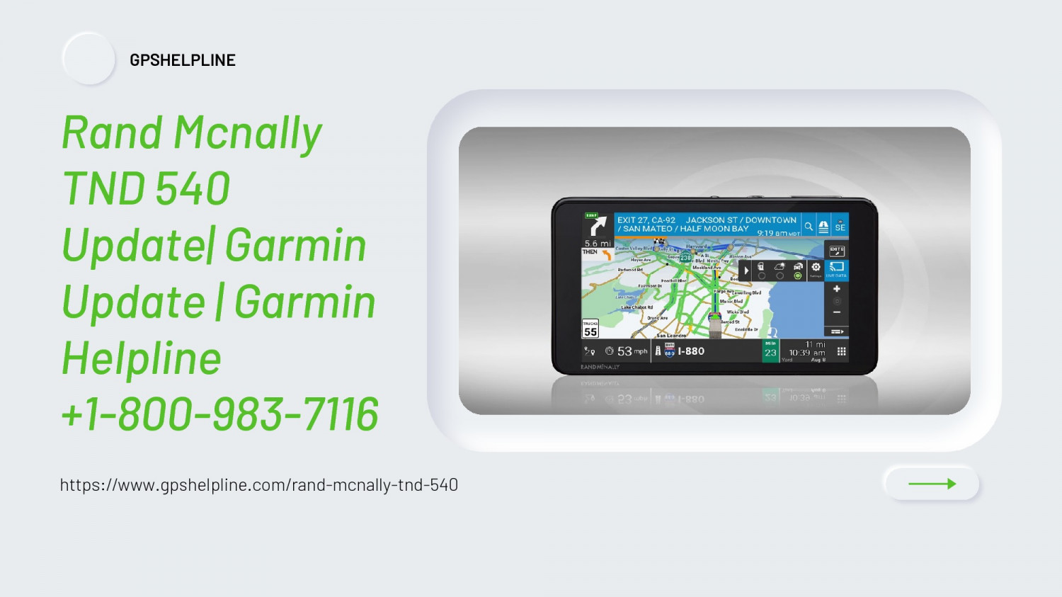 Reach 1-8009837116 Get Instant Rand McNally TND 540 Update Help Infographic
