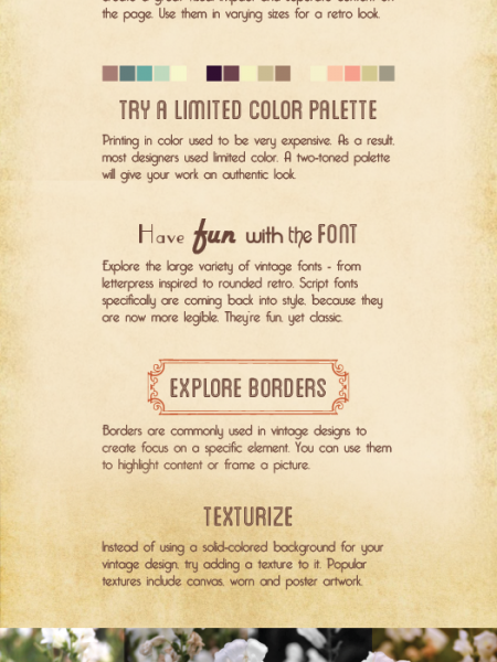 Vintage Design Elements Infographic