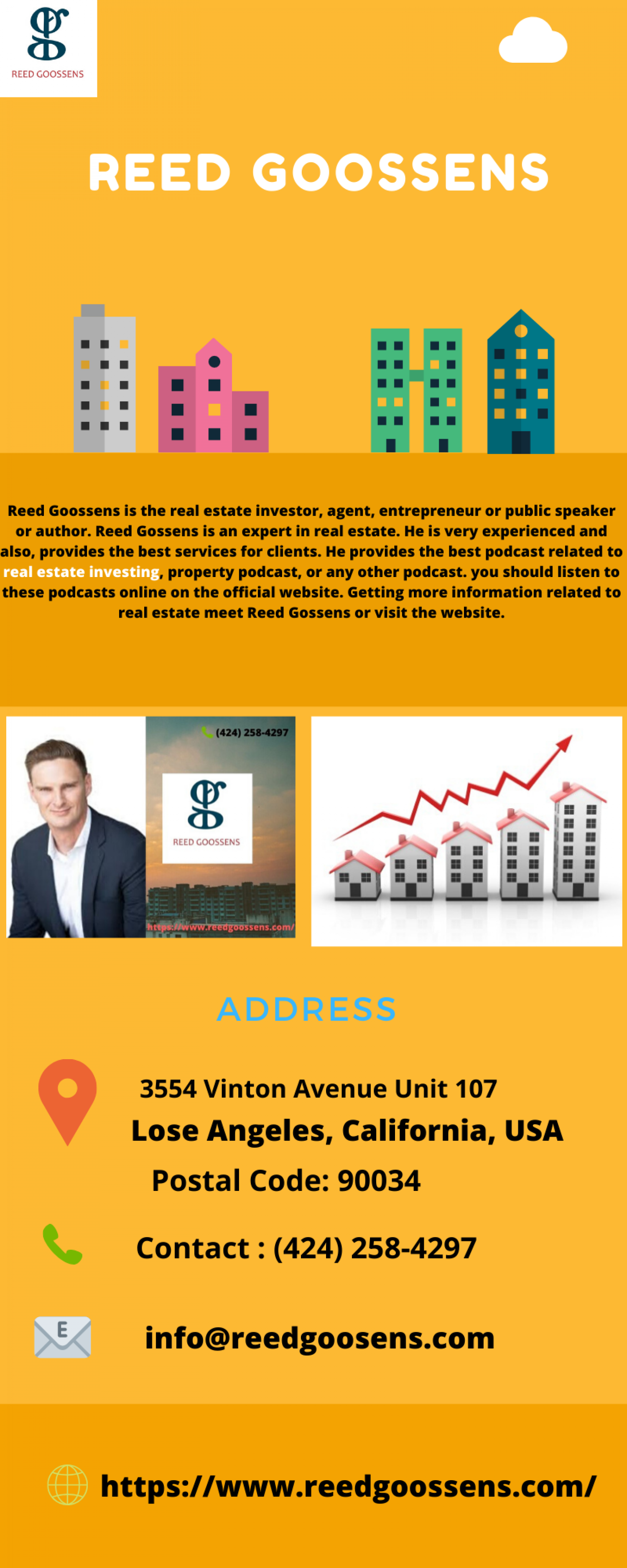 Real Estate Investing  - Reed Goossens Infographic