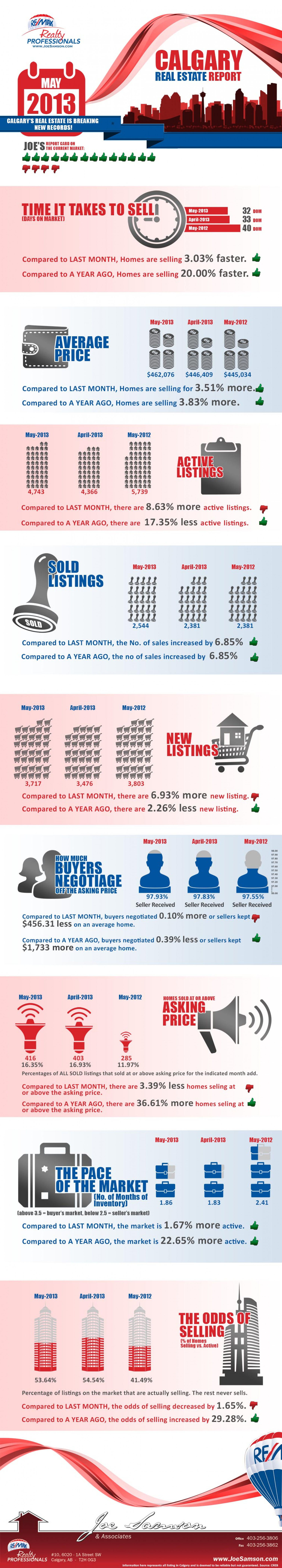 Real Estate Market in 2013 Infographic