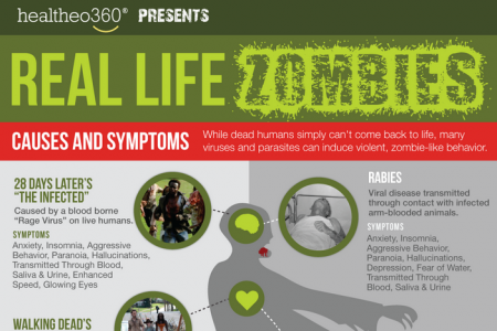 Real Life Zombie Viruses In the World Infographic