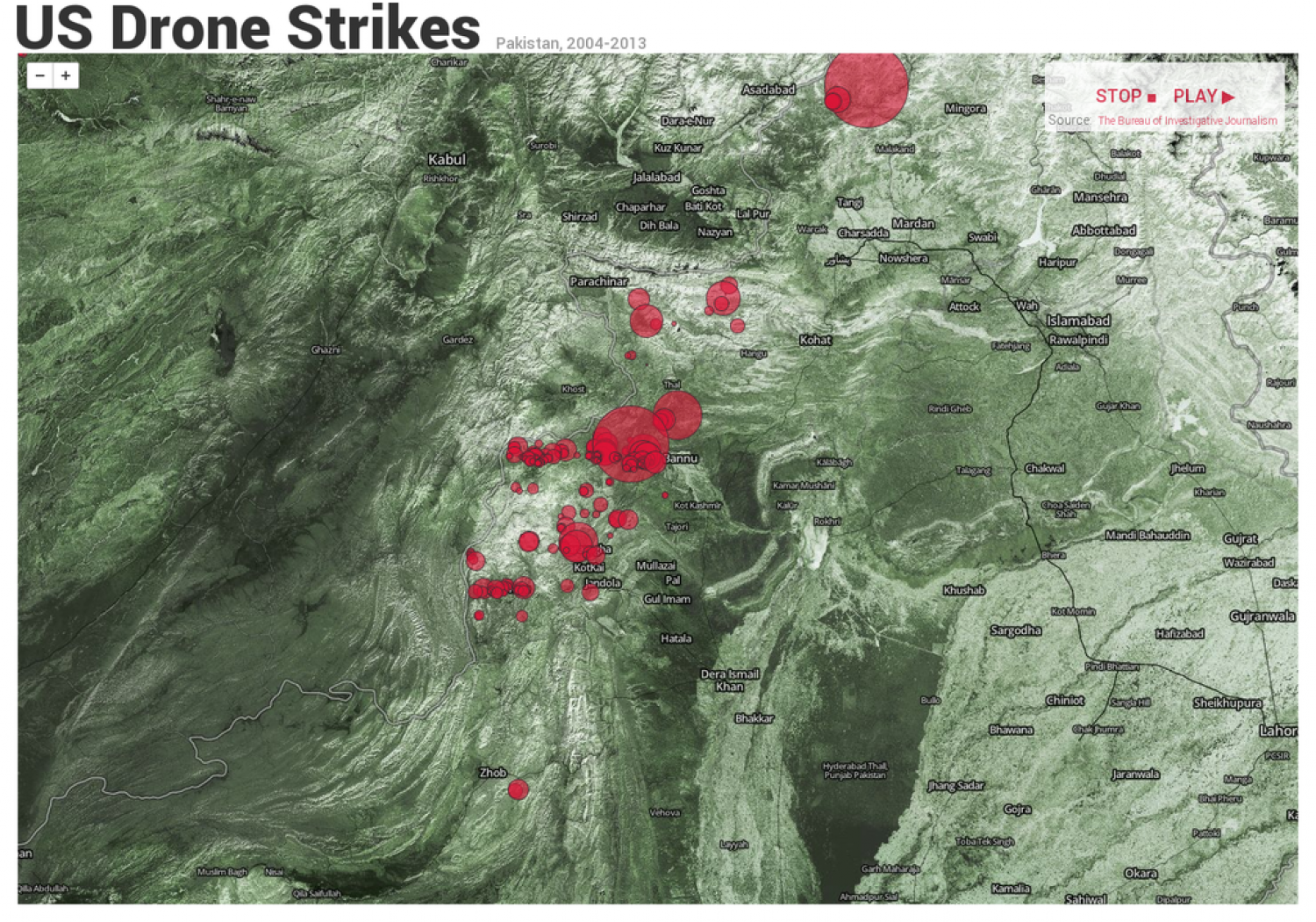 Real-Time U.S. Drone Strikes in Pakistan Infographic