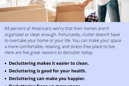 Reasons to Declutter Your Space Infographic