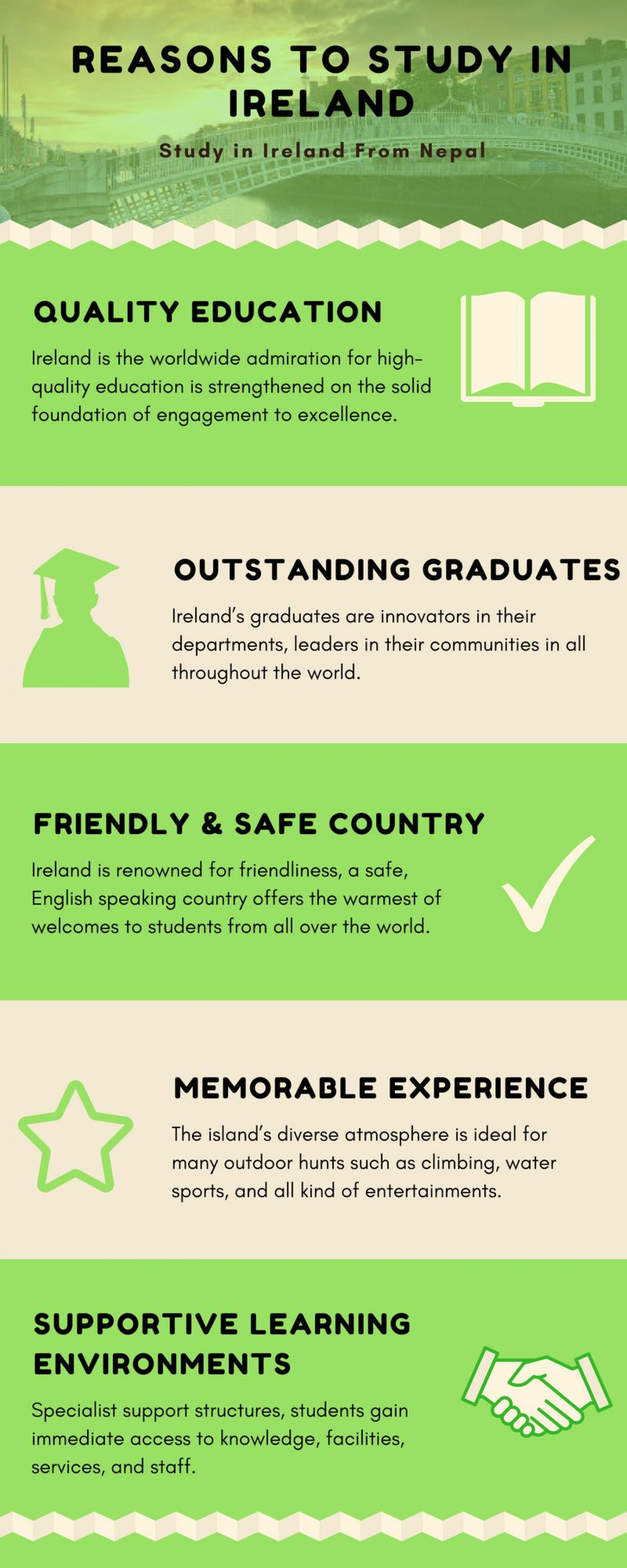 Reasons to Study in Ireland Infographic