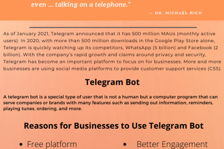 Reasons to use Bot for Telegram Infographic