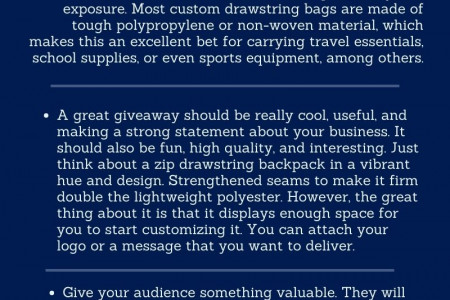 Reasons Why Art Drawstring Backpack are Best as Custom Gifts Infographic