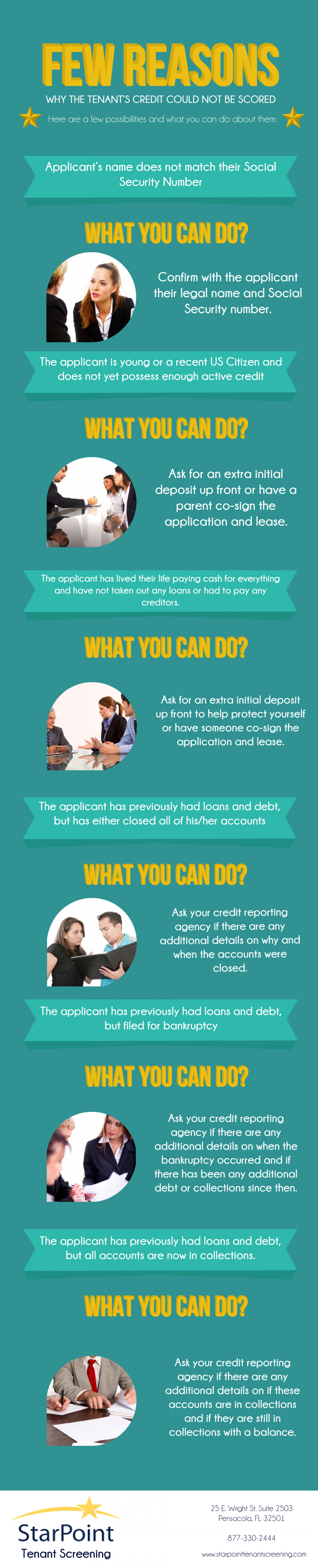Reasons Why The Tenant's Credit Report Could Not Be Scored Infographic