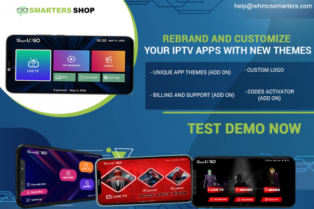REBRAND AND CUSTOMIZE YOUR IPTV APPS WITH NEW THEMES Infographic