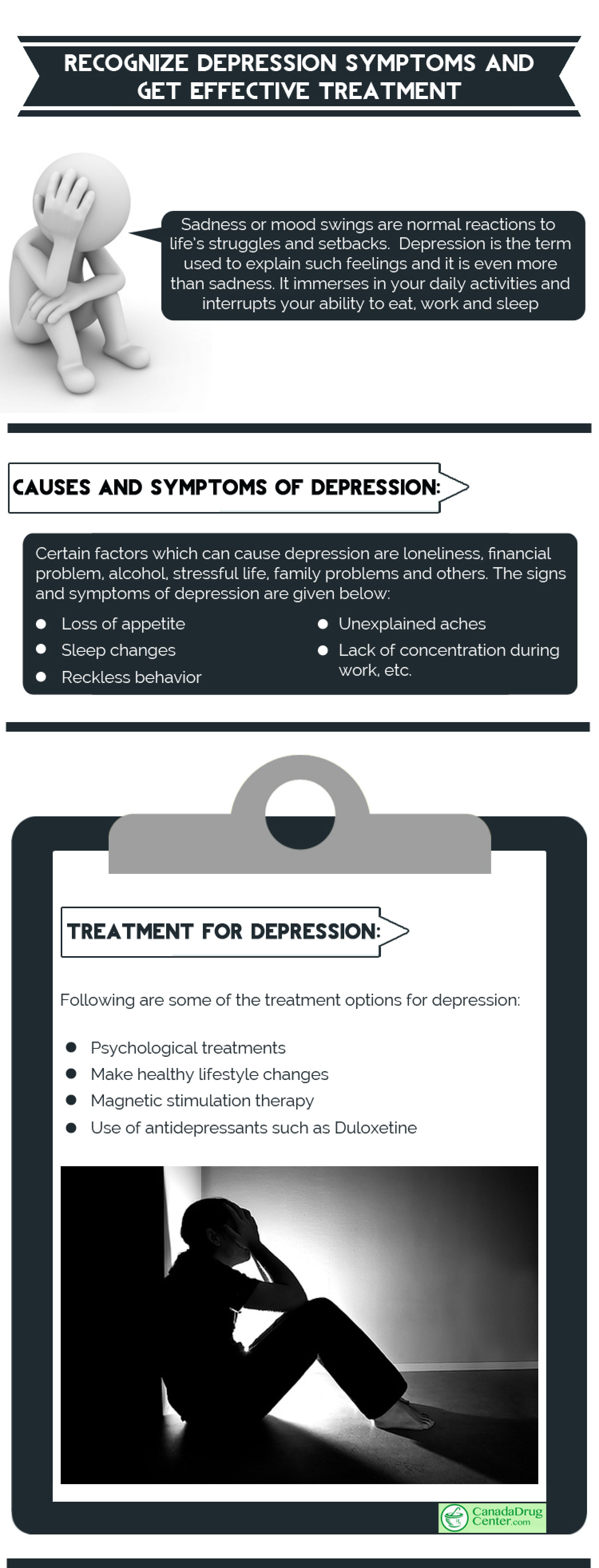 Recognize Depression Symptoms and get Effective Treatment Infographic