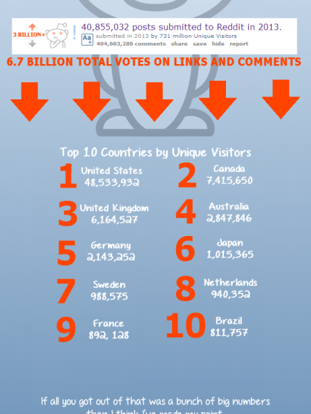 Reddit Stats of 2013 Infographic