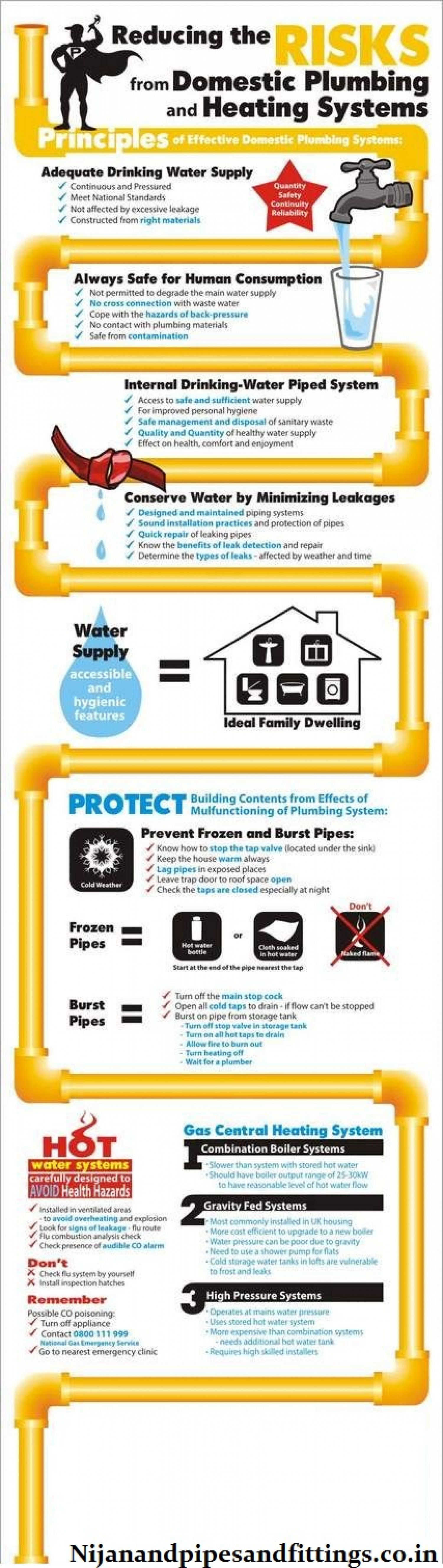 Reducing The Risk From Domestic Plumbing and Heating Systems Infographic