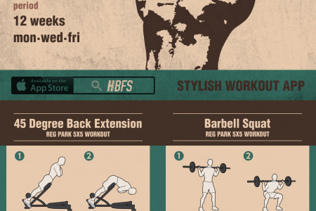 Reg PARK's 5X5 Workout Routine Infographic