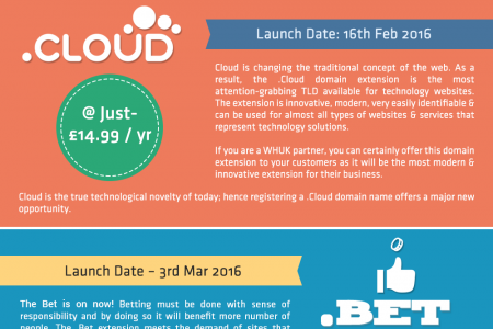Register Your First Choice Domain With New TLDs @WHUK! Infographic