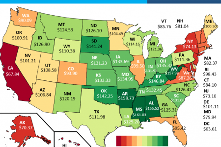 Relative Value of Housing Dollars in Each State Infographic