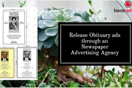 Release Obituary ads through a Newspaper Advertising Agency Infographic