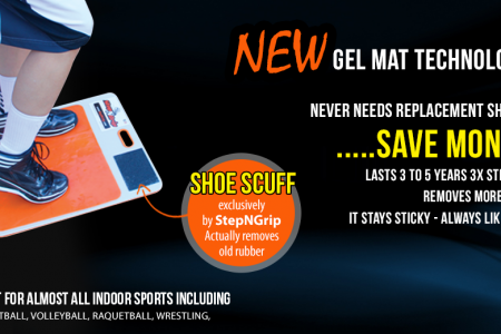 Renew Shoe Rubber  with Gel Mats Technology Infographic