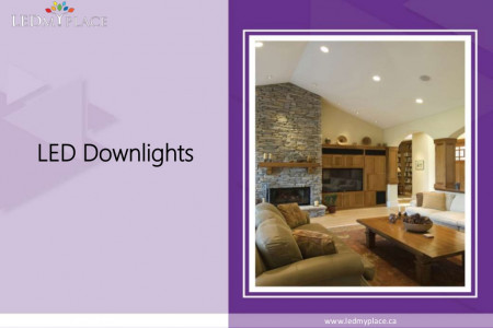 Replace Old Lights with Beautiful LED Downlights Infographic
