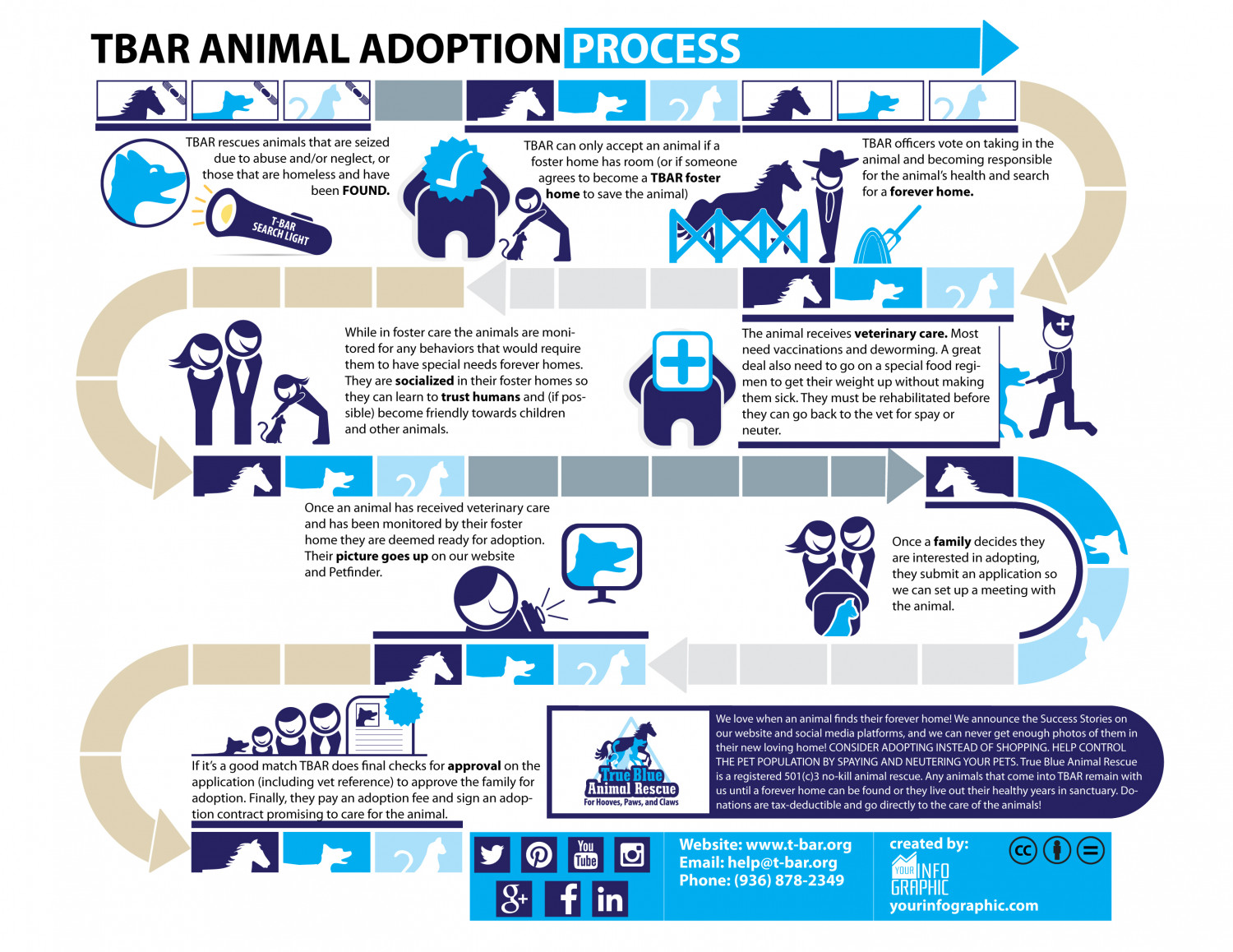 TBAR Animal Adoption Process Infographic