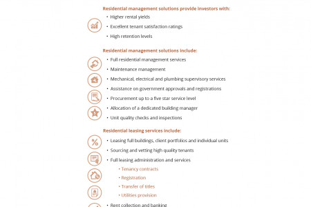 Residential management services Infographic