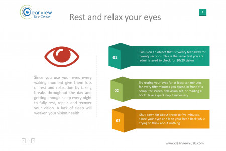 Rest and relax eyes Infographic