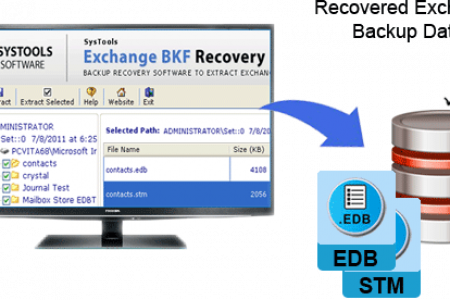 Restore Exchange Backup File with Helps Extra Powerful Exchange BKF Recovery Software Infographic