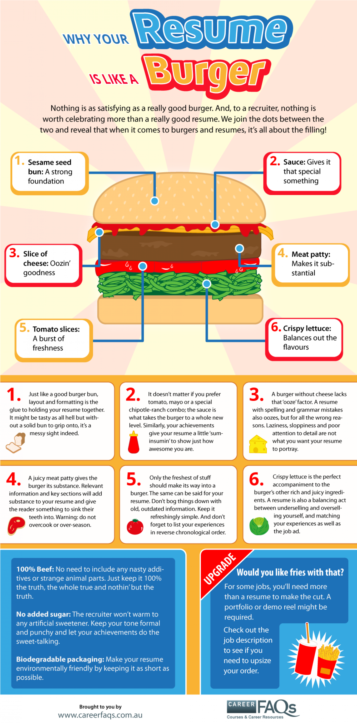 Resume Burger Infographic Infographic