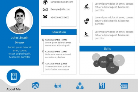 Resume PowerPoint & Google Slide template Infographic