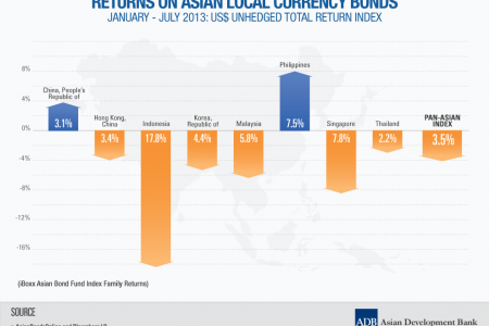 Returns on Asian Local Currency Bonds: January - July 2013 Infographic