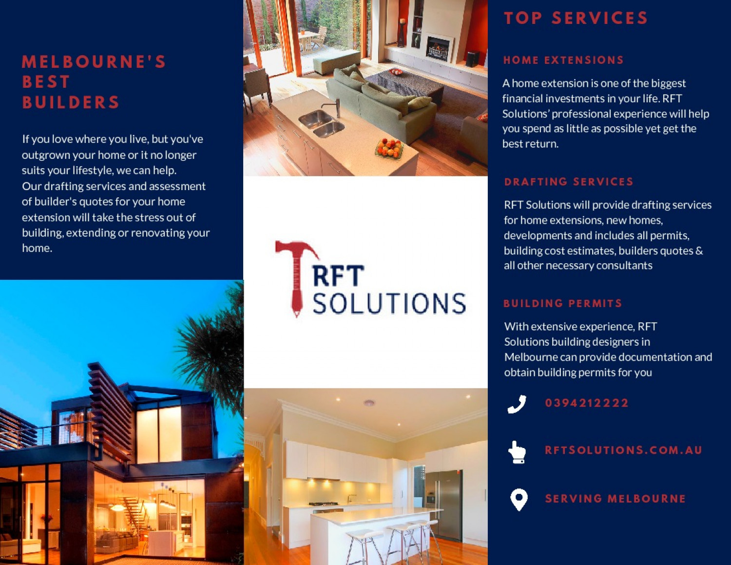 RFT Solutions Brochure Infographic