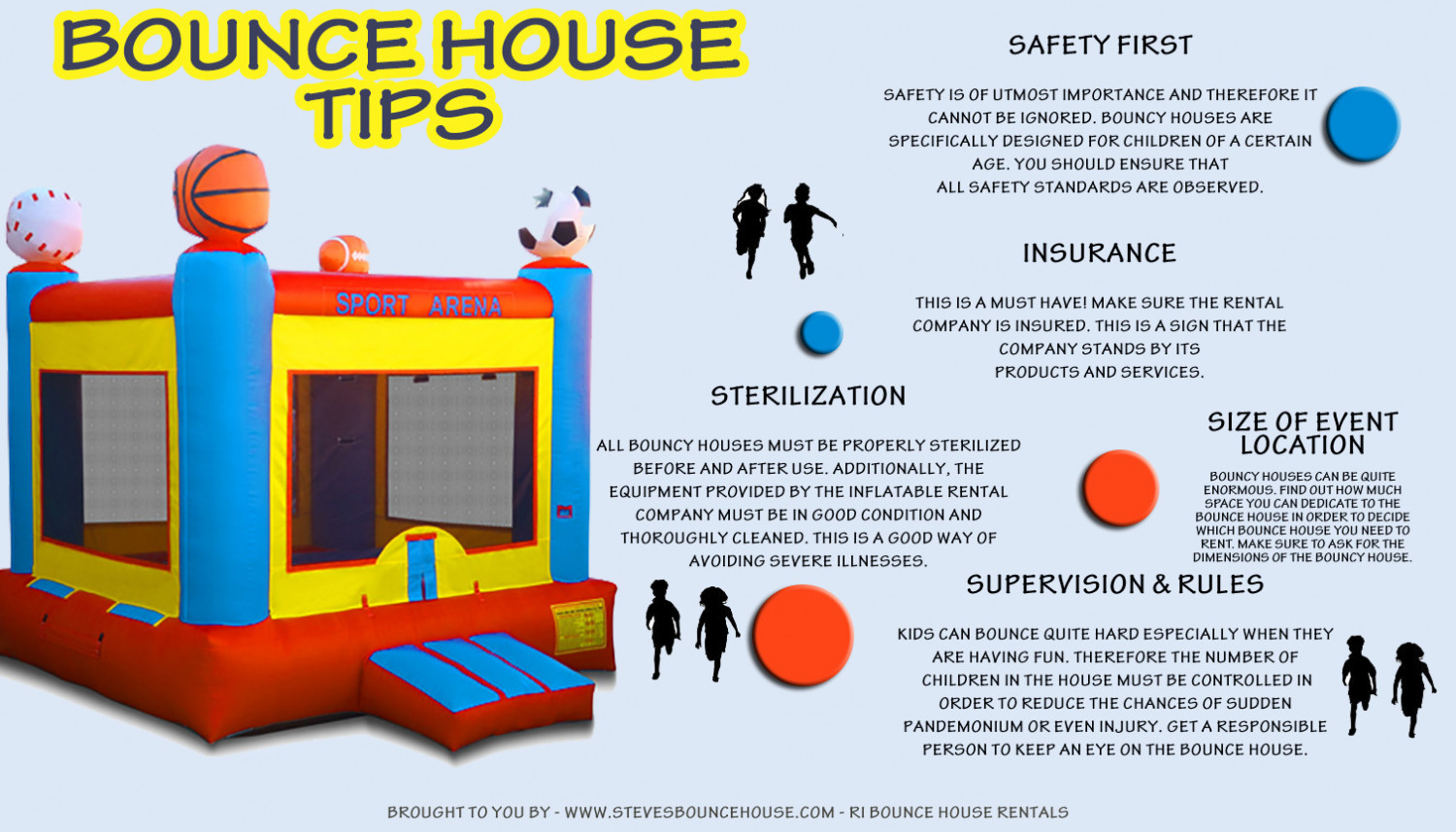 Bounce House Tips Infographic
