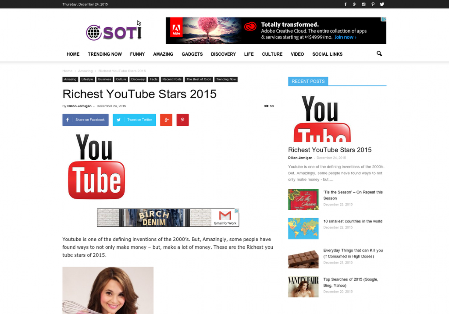 Richest YouTube Stars 2015 Infographic