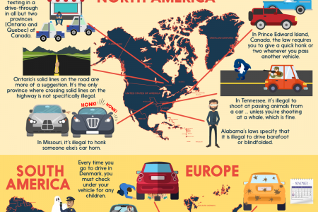 Ridiculous and Weird Traffic Laws From Around the World Infographic