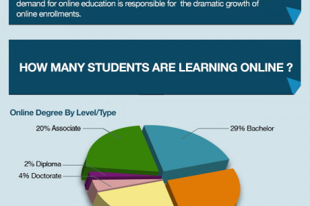 Rise In Online Enrollments Infographic