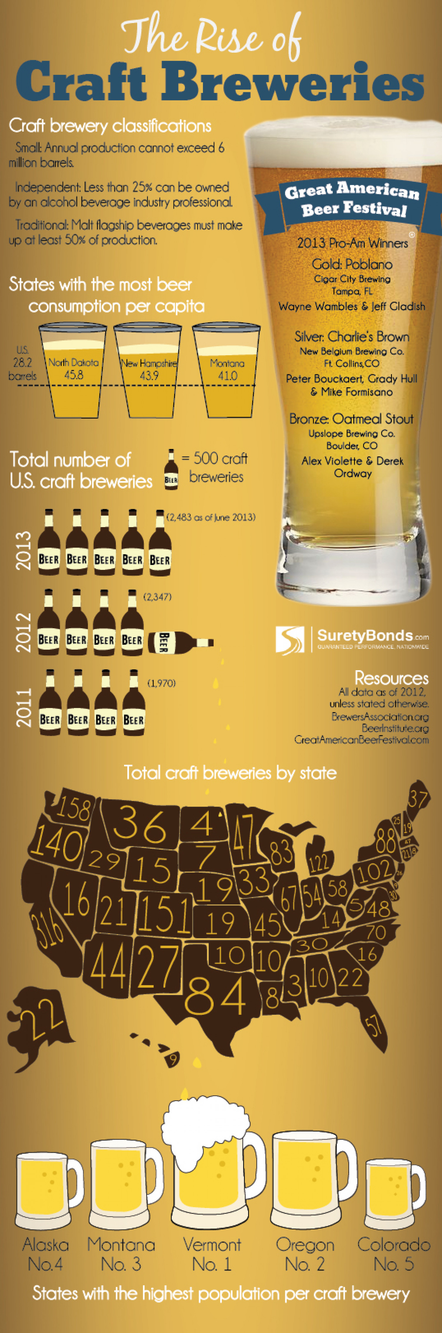 Rise of Craft Breweries Infographic