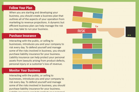 Risk Management in a Business Infographic