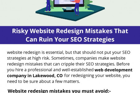 Risky Website Redesign Mistakes That Can Ruin Your SEO Strategies Infographic
