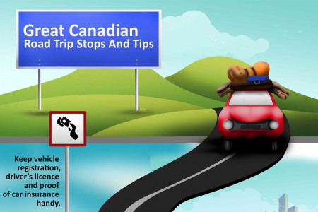 Road trip stops Infographic