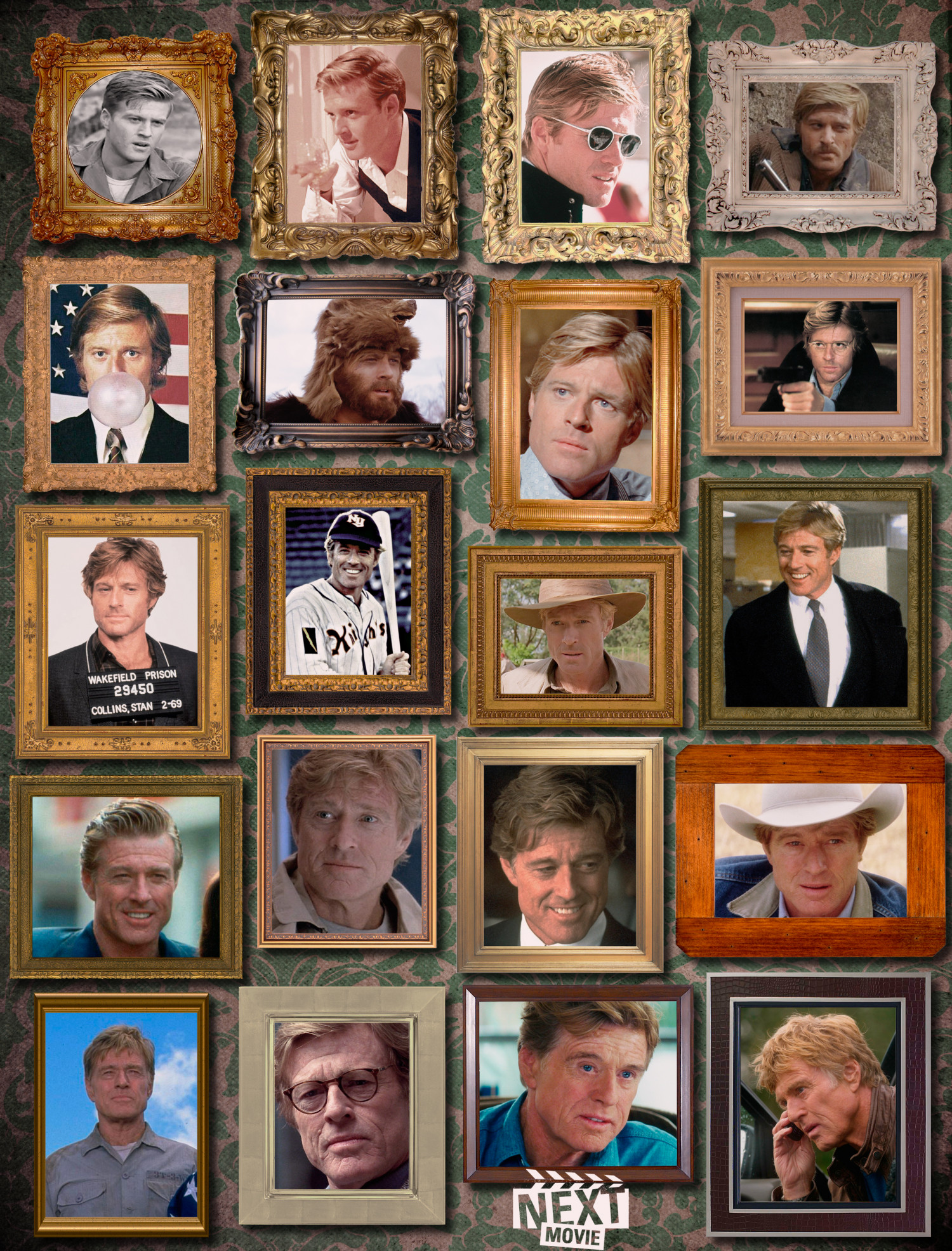 Robert Redford Wall of Aging Infographic
