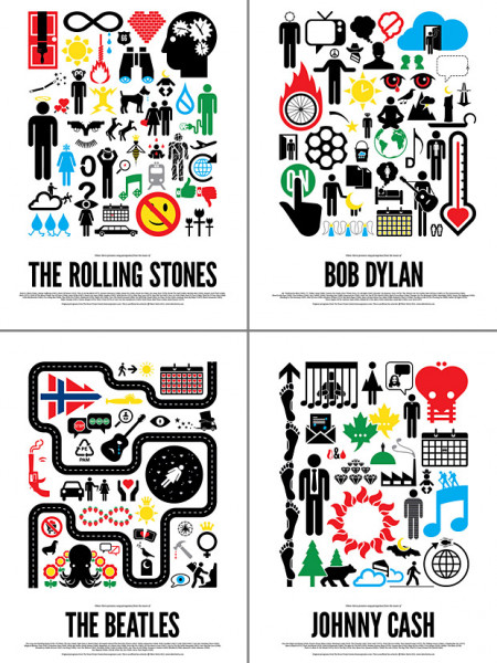 Rock Pictograms Infographic
