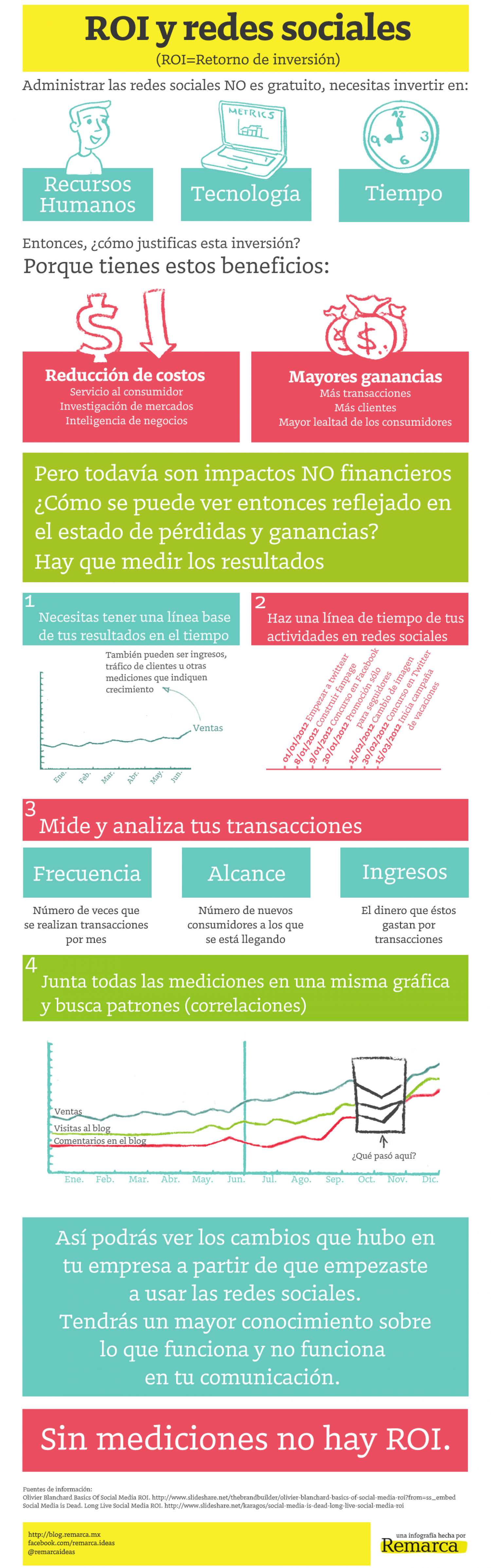 ROI y Redes Sociales Infographic
