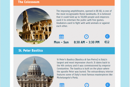 Rome city guide Infographic