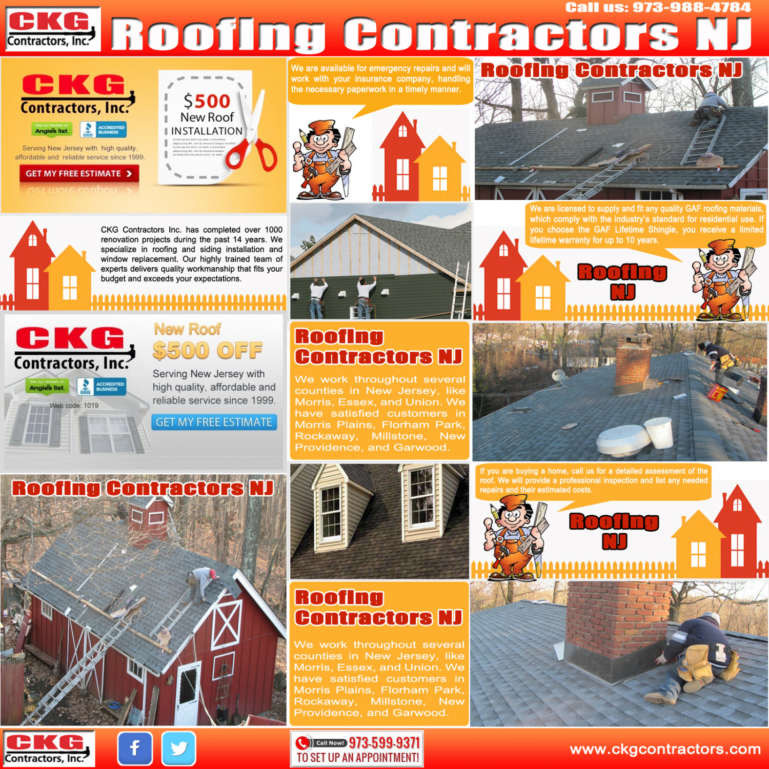 Roofing Contractors NJ Infographic