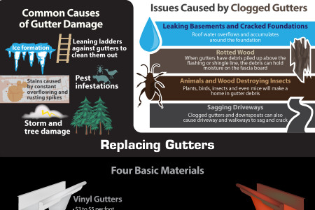 Roofing Problems: Common Gutter Problems Infographic