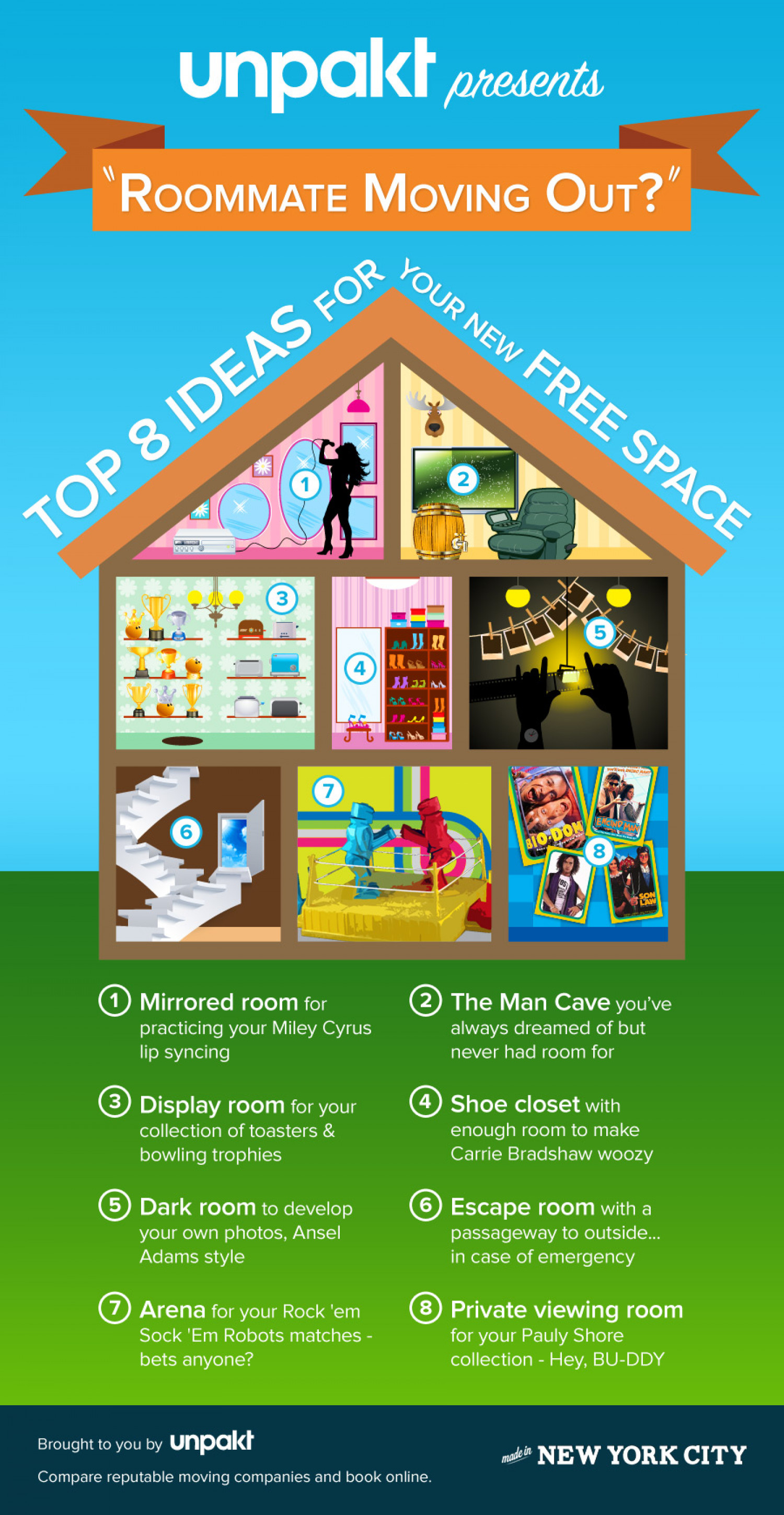 Roommate Moving Out? Top 8 Ideas for Your New Free Space Infographic