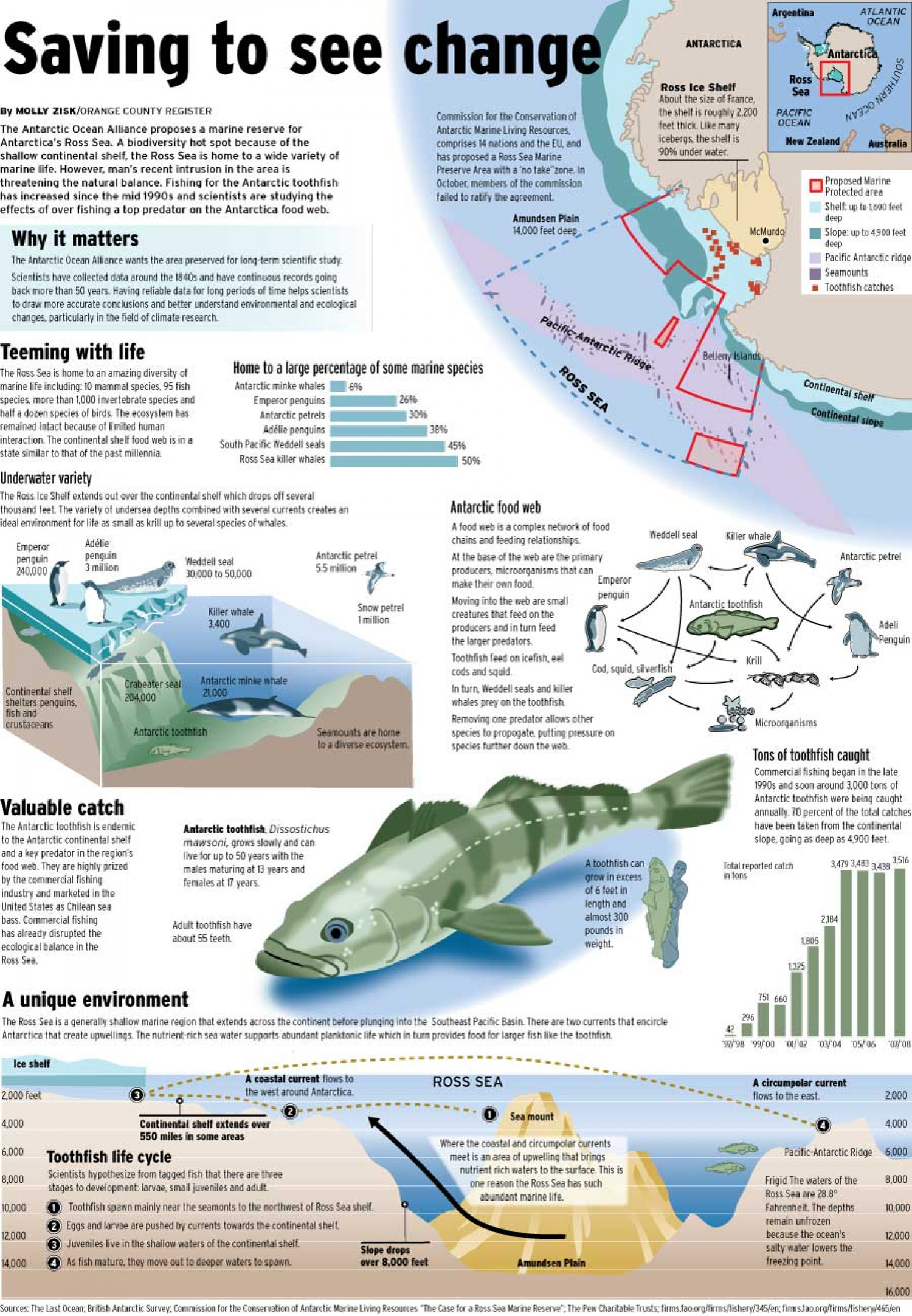 Ross Sea marine preserve possibility Infographic