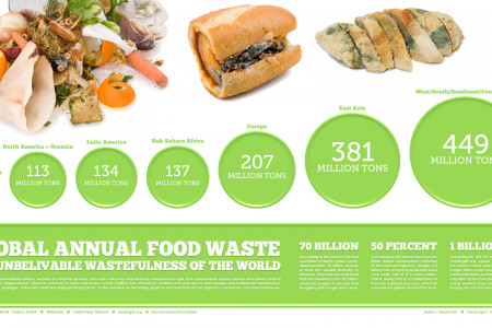 ROTTEN!  Global Annual Food Waste Infographic