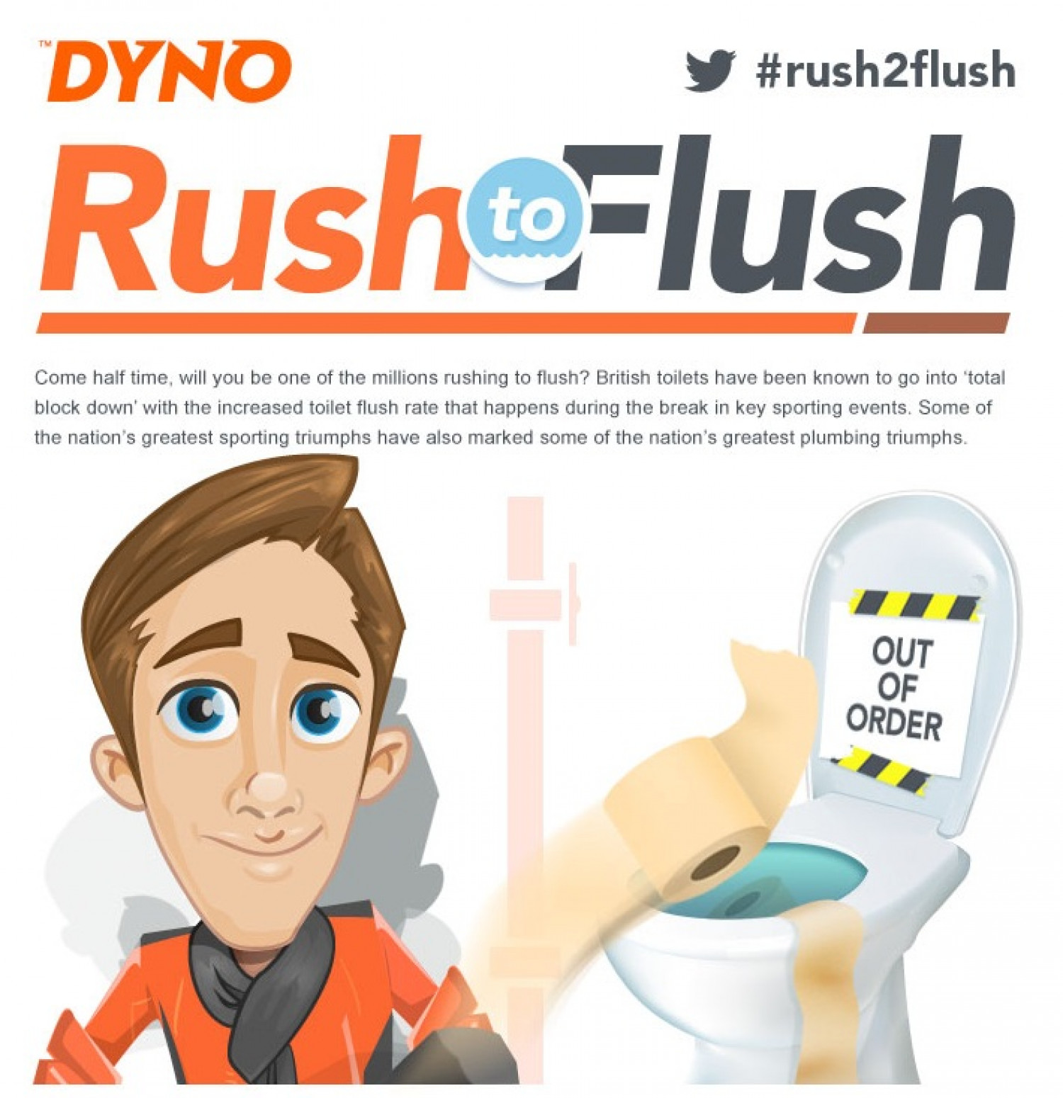 Rush to Flush Infographic