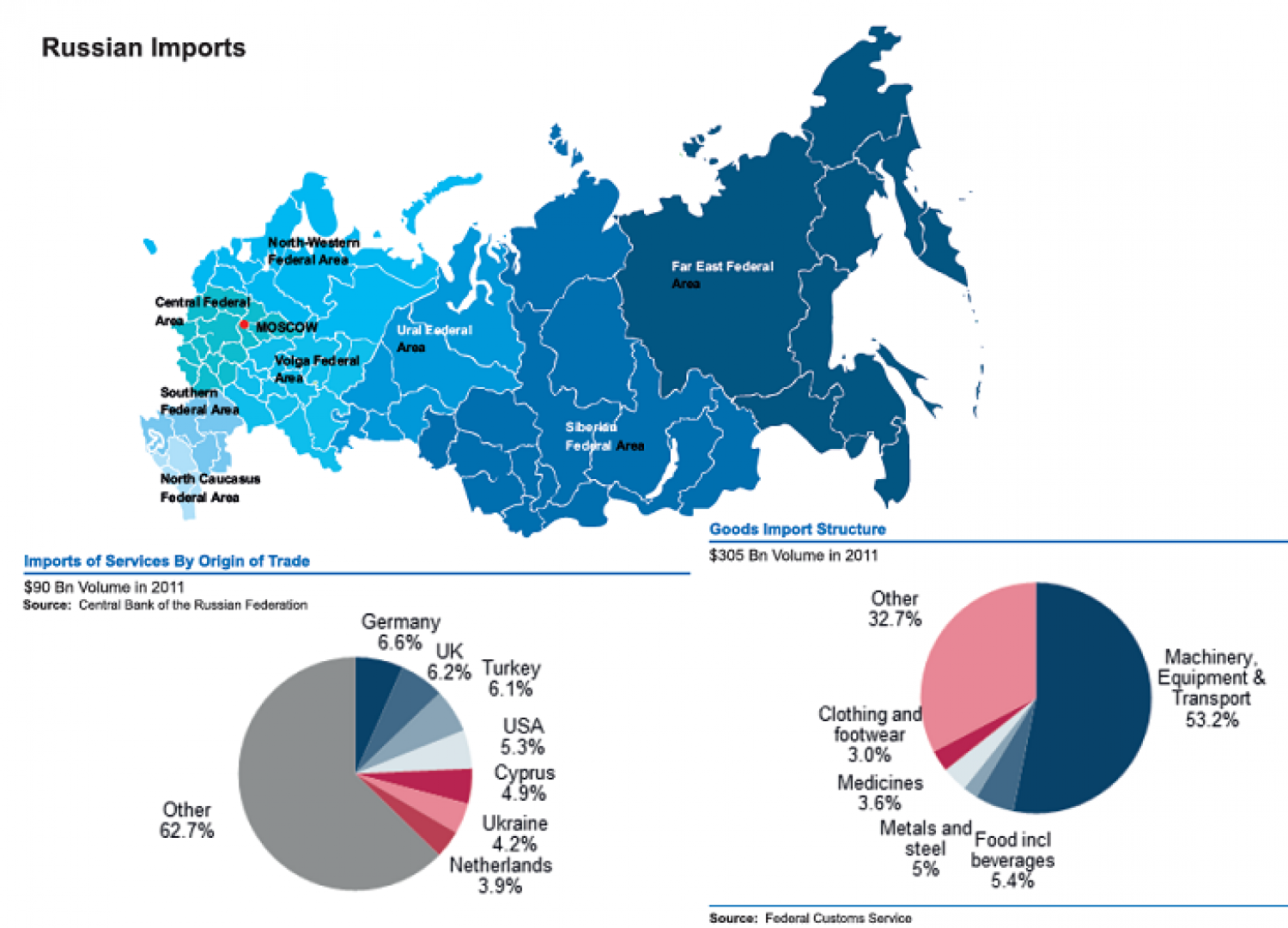 Russian Federation : Russian imports Infographic